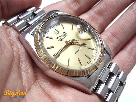 genuine bulova super seville day & date automatic watch