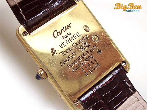 Cartier Tank Quartz Movement