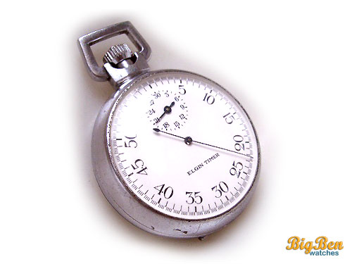 elgin timer manual-wind military stop watch
