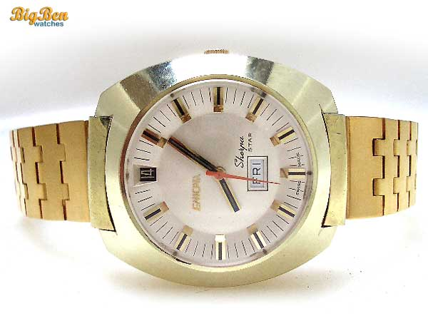 enicar sherpa star automatic day-date watch