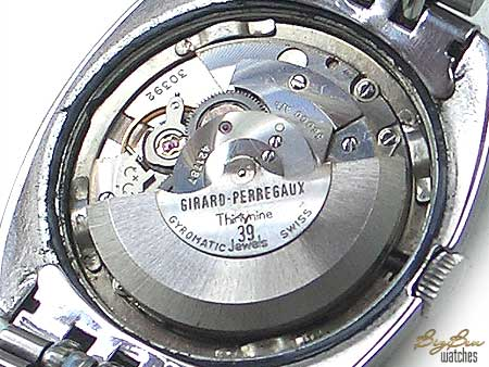 girard-perregaux chronometer hf gyromatic date watch