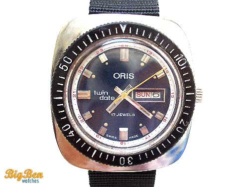 oris twin-date 24-hour automatic day-date watch