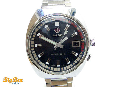 original rado captain cook automatic date watch
