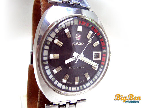 vintage rado captain cook automatic date watch