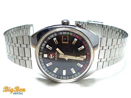 rare rado captain cook automatic date watch
