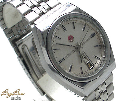 vintage rado conway automatic day-date watch