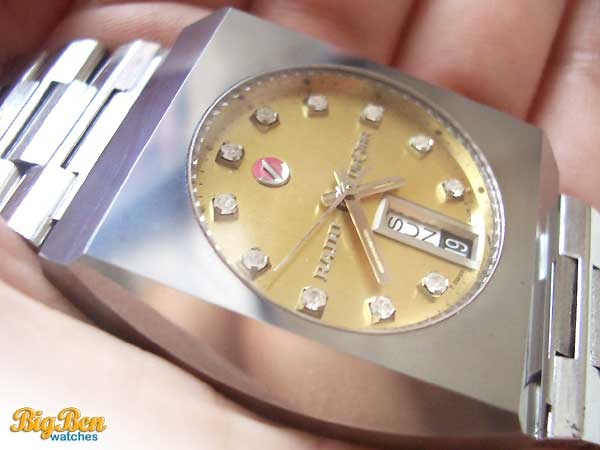 rado diastar automatic day-date watch