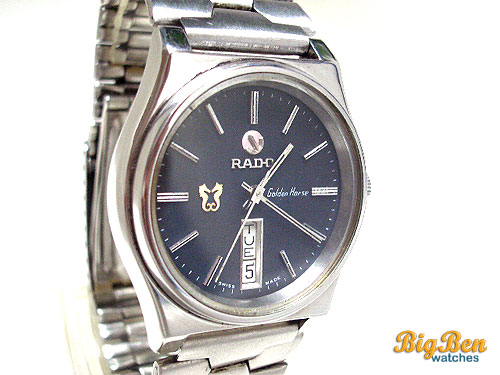 rado golden horse automatic day-date watch