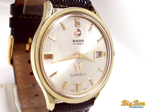 rado golden horse automatic date watch