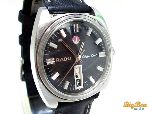 rado golden bowl automatic day-date watch