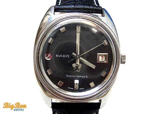 rado green horse 6 automatic date watch
