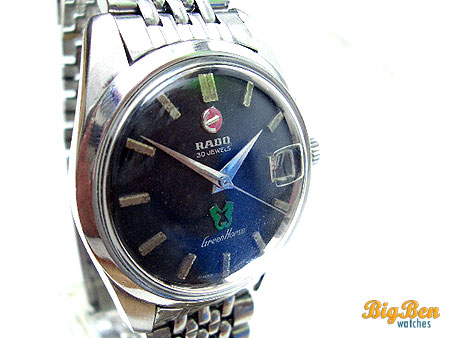 vintage rado green horse automatic date watch