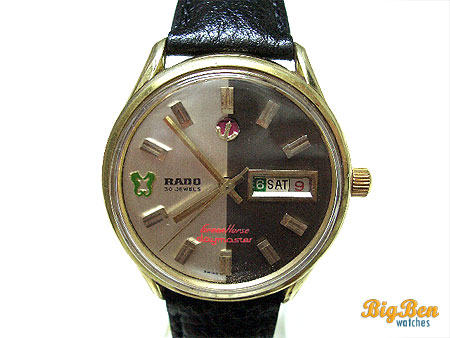 rado green horse daymaster automatic day-date watch
