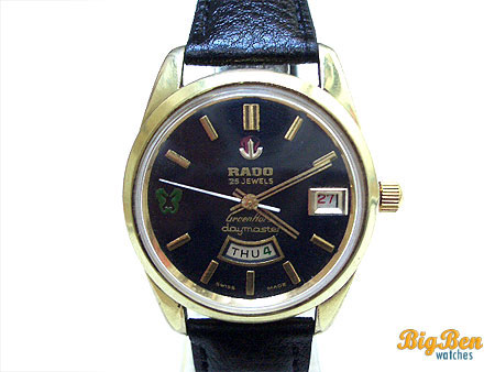 rado daymaster green horse automatic day-date watch