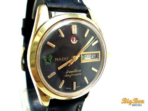 authentic rado green horse daymaster automatic day-date watch