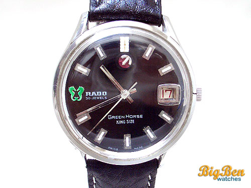 rado green  horse king size automatic date watch