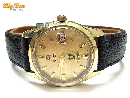 rado king size green horse automatic date watch