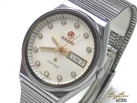 rado jupiter automatic white dial day-date watch