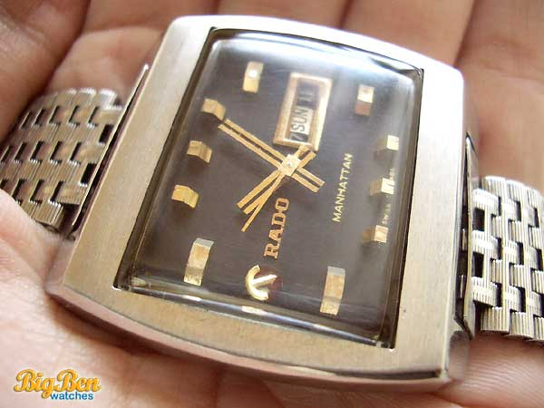 rado manhattan automatic day-date watch