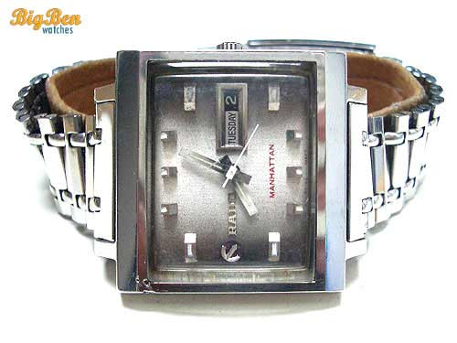 rare rado manhattan automatic day-date watch