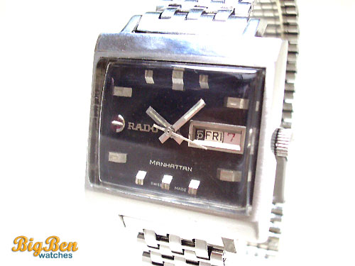 authentic rado manhattan automatic day-date watch