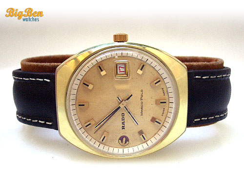 vintage rado marco polo automatic date watch