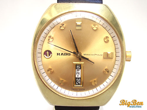 rado marco polo automatic day-date watch