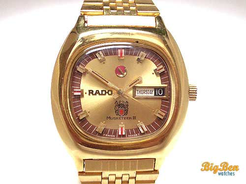 original rado musketeer III automatic day-date watch