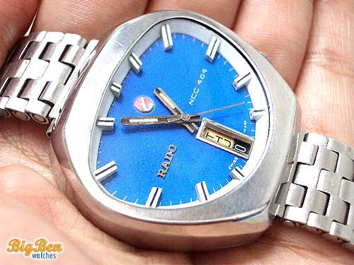 vintage rado ncc 404 automatic day-date watch