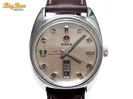 authentic rado new green horse automatic day-date watch