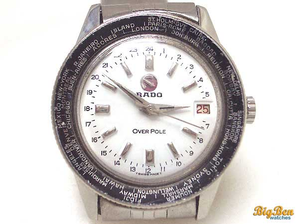 rado over pole world time automatic date watch