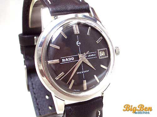 rado president manual-wind date watch