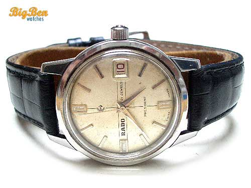 vintage rado president manual-wind date watch