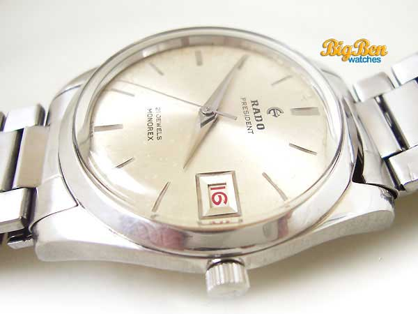 rado president monorex mechanical date watch