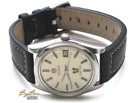 rado purple horse automatic silver dial date watch