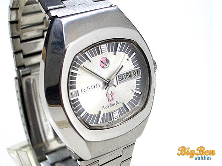 rado purple horse deluxe automatic day-date watch