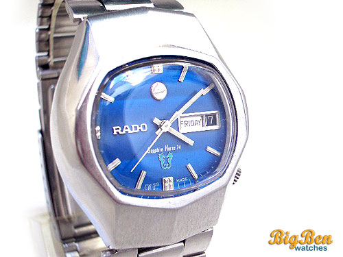 rado sapphire horse 74 automatic day-date watch