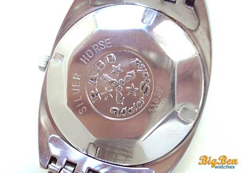rado silver horse automatic date watch