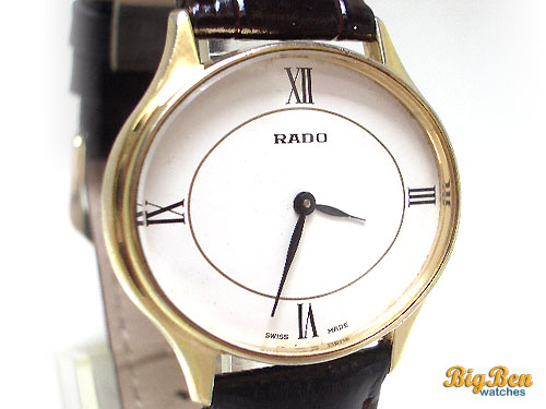 rado manual-wind classic dress watch