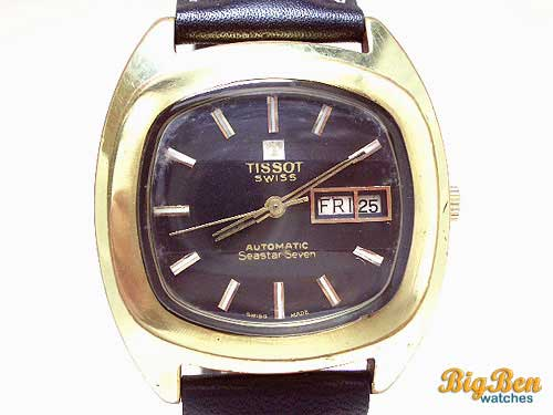 tissot seastar seven automatic day-date watch