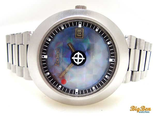 zodiac astrographic 1200 vickers automatic date watch