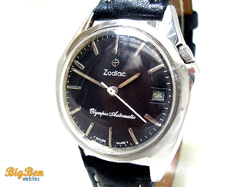 rare zodiac olympos automatic date watch