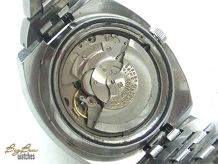 vintage zodiac olympos sst automatic day-date watch