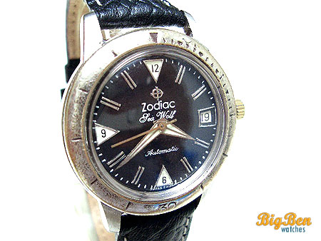 zodiac sea wolf automatic date watch