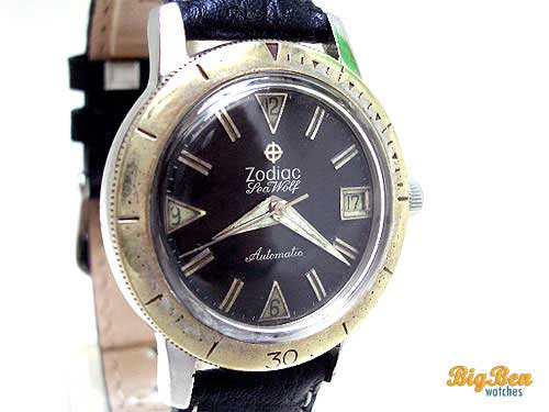 vintage zodiac seawolf automatic watch