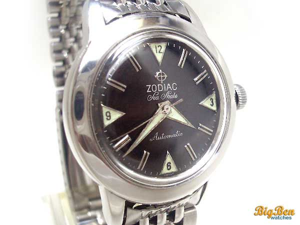 zodiac sea skate automatic date watch