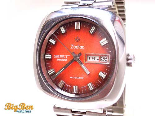 zodiac sst 36000 automatic day-date watch