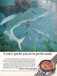 bulova oceanographer snorkel print advertisement