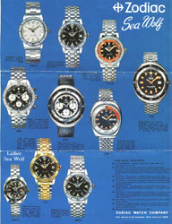 zodiac sea wolf print advertising